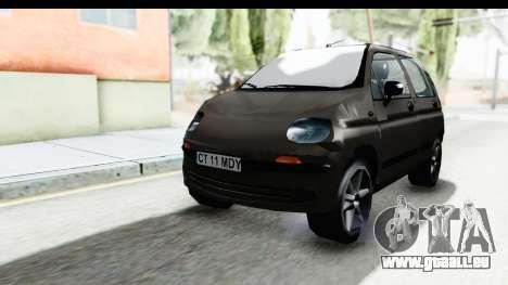 Daewoo Matiz für GTA San Andreas zurück linke Ansicht