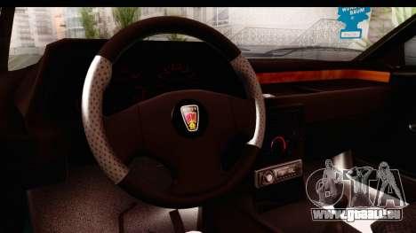 Rover 220 pour GTA San Andreas vue intérieure