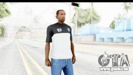 Adidas Black White T-Shirt pour GTA San Andreas deuxième écran