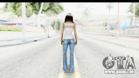 Silverblk White Top pour GTA San Andreas troisième écran
