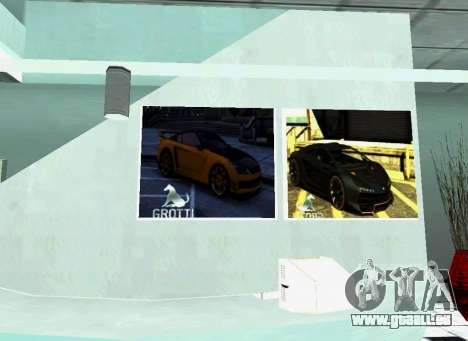 Die Grotti-Autohaus in San Fierro für GTA San Andreas her Screenshot