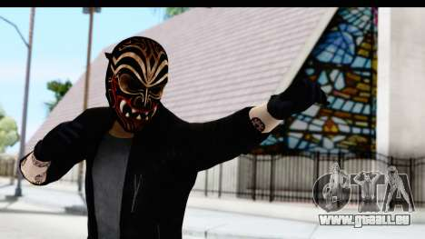 Payday 2 - Bodhi with Mask pour GTA San Andreas
