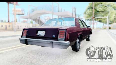 Ford LTD Crown Victoria 1987 für GTA San Andreas rechten Ansicht