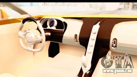 Bugatti Chiron 2017 v2.0 Updated pour GTA San Andreas vue intérieure