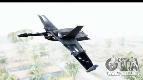 Batman Arkham Origins - Batwing für GTA San Andreas rechten Ansicht