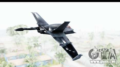 Batman Arkham Origins - Batwing pour GTA San Andreas vue de droite
