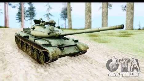T-62 Wood Camo v1 pour GTA San Andreas sur la vue arrière gauche