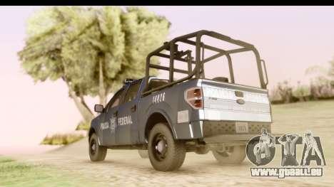 Ford F-150 Policia Federal pour GTA San Andreas laissé vue