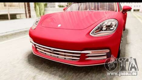 Porsche Panamera 4S 2017 v5 pour GTA San Andreas vue de dessus