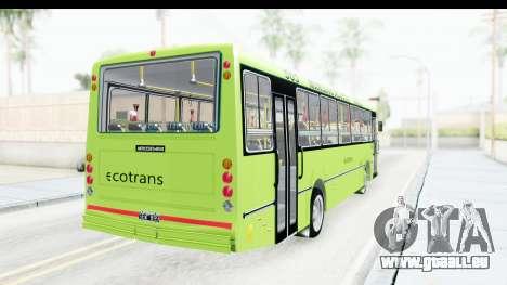 Bus La Favorita Ecotrans für GTA San Andreas linke Ansicht