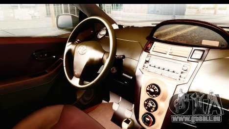 Toyota Vios 2008 Taxi Blue Bird pour GTA San Andreas vue intérieure