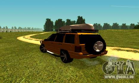 Jeep Grand Cherokee pour GTA San Andreas vue de droite