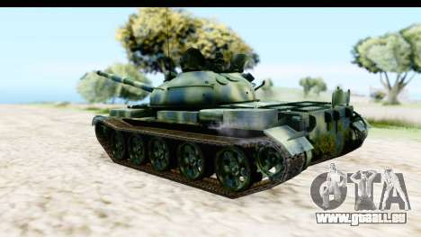 T-62 Wood Camo v3 pour GTA San Andreas laissé vue