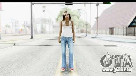 Silverblk White Top pour GTA San Andreas deuxième écran