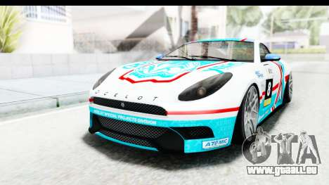 GTA 5 Ocelot Lynx SA Lights PJ pour GTA San Andreas vue de côté