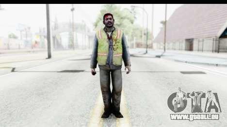 Left 4 Dead 2 - Zombie Baggage Handler pour GTA San Andreas deuxième écran