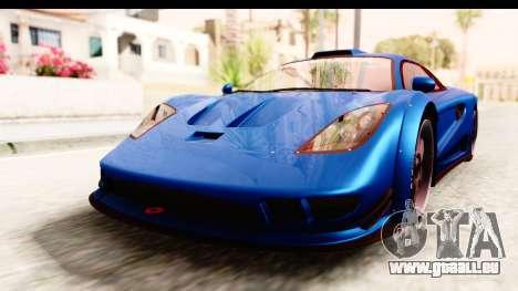 GTA 5 Progen Tyrus IVF pour GTA San Andreas vue de droite