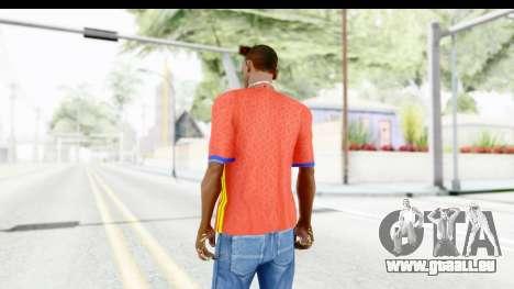 Spain Home Kit 2016 für GTA San Andreas dritten Screenshot