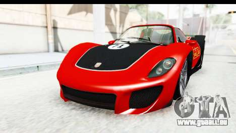 GTA 5 Pfister 811 IVF für GTA San Andreas obere Ansicht