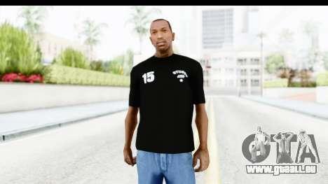 Stussy Black T-Shirt für GTA San Andreas