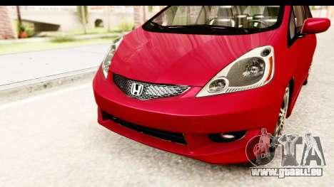 Honda Fit Sport 2009 pour GTA San Andreas vue de côté
