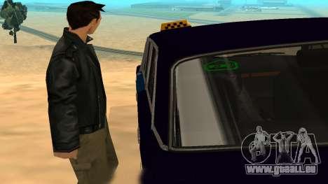 VAZ-2106 de GVR de la première version pour GTA San Andreas vue intérieure