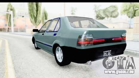 Renault 19 RE pour GTA San Andreas laissé vue