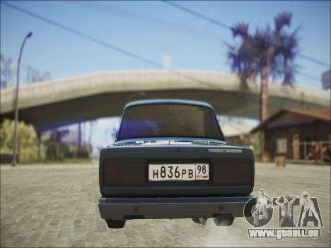 VAZ 2107 Black Jack pour GTA San Andreas vue de droite