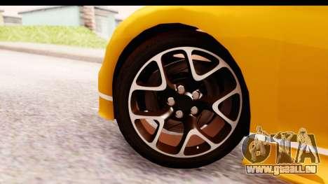 Bugatti Chiron 2017 v2.0 Updated pour GTA San Andreas sur la vue arrière gauche