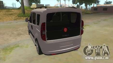 Fiat Doblo 2015 Series für GTA San Andreas zurück linke Ansicht