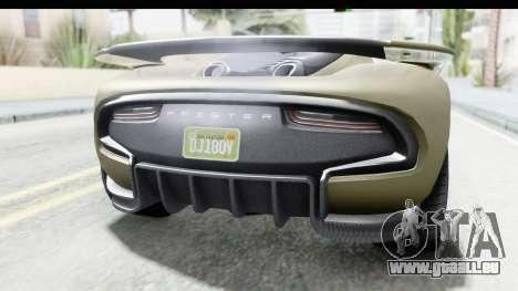 GTA 5 Pfister 811 IVF für GTA San Andreas Innenansicht