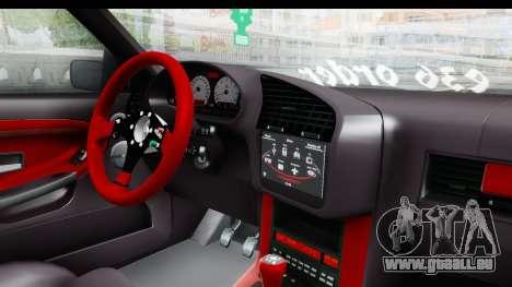 BMW M3 E36 Sloboz Edition pour GTA San Andreas vue intérieure