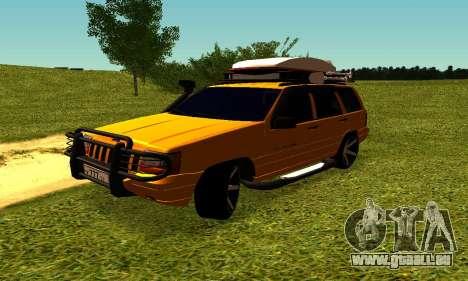 Jeep Grand Cherokee pour GTA San Andreas vue intérieure
