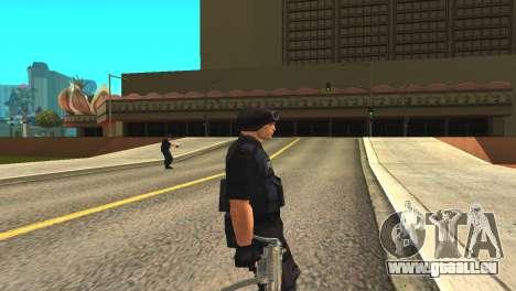 Original SWAT de la peau sans masque pour GTA San Andreas deuxième écran