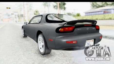 Mazda RX-7 4-doors Fastback pour GTA San Andreas laissé vue