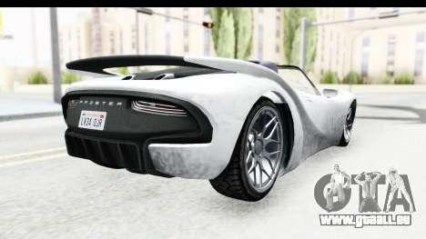 GTA 5 Pfister 811 SA Lights pour GTA San Andreas laissé vue
