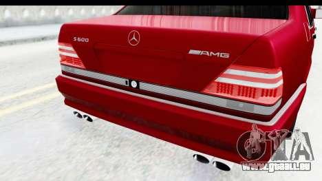 Mercedes-Benz W140 S600 AMG für GTA San Andreas Seitenansicht