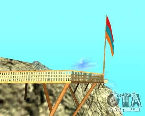 Armenian Flag On Mount Chiliad V-2.0 für GTA San Andreas zweiten Screenshot