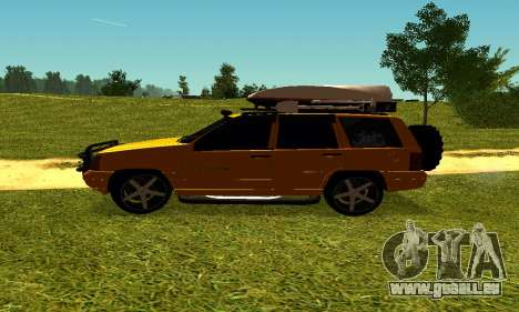 Jeep Grand Cherokee pour GTA San Andreas vue arrière