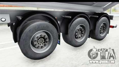 Trailer Volvo Dumper pour GTA San Andreas vue arrière