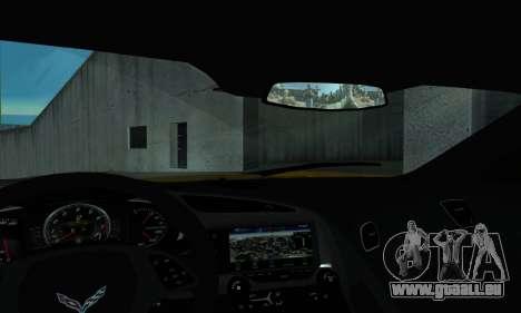 Chevrolet Corvette pour GTA San Andreas vue de droite