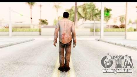 Left 4 Dead 2 - Zombie Shirt 1 pour GTA San Andreas troisième écran