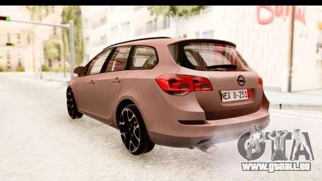 Opel Astra J Tourer für GTA San Andreas zurück linke Ansicht