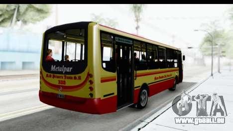 Metalpar Tronador 2 Puertas Linea 324 pour GTA San Andreas sur la vue arrière gauche