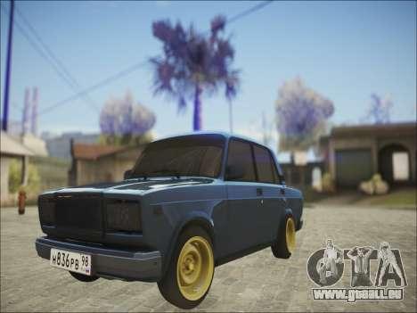 VAZ 2107 Black Jack pour GTA San Andreas laissé vue