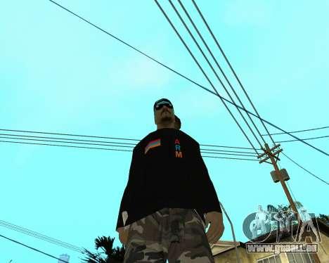 Armenian Skin pour GTA San Andreas troisième écran