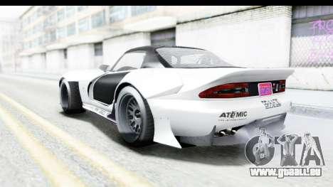 GTA 5 Bravado Banshee 900R Carbon Mip Map pour GTA San Andreas vue de dessous
