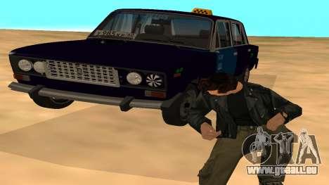 VAZ-2106 de GVR de la première version pour GTA San Andreas vue de dessus