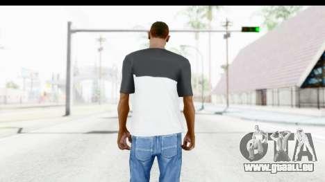 Adidas Black White T-Shirt pour GTA San Andreas troisième écran