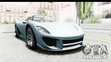 GTA 5 Pfister 811 pour GTA San Andreas sur la vue arrière gauche